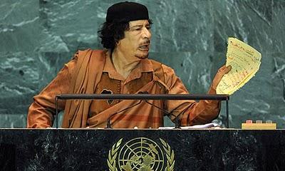 Historico discurso de Mohamar Gadafi en la ONU