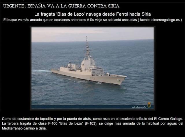 ESPAÑA-GUERRA-SIRIA