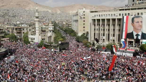 Apoyo del pueblo sirio a su presidente