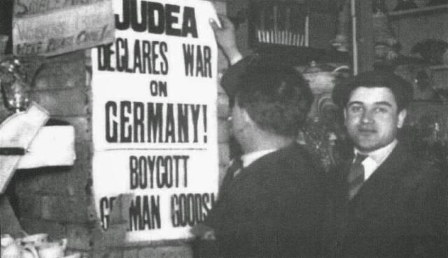 Judios declaran la guerra a Alemanian