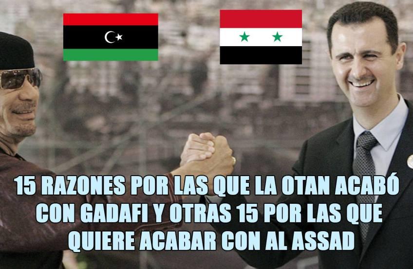 Las quince auténticas razones por las que la OTAN acabó con Gadafi y ahora con Assa 12471316_986360148077144_2799069534223325305_o